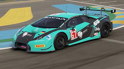 Photograph - Lamborghini Huracan Gt3 - Le Mans 17 by Andrea Mazzocchetti