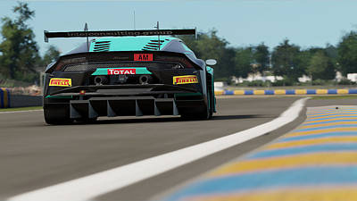 Photograph - Lamborghini Huracan Gt3 - Le Mans 18 by Andrea Mazzocchetti