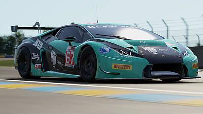 Photograph - Lamborghini Huracan Gt3 - Le Mans 20 by Andrea Mazzocchetti
