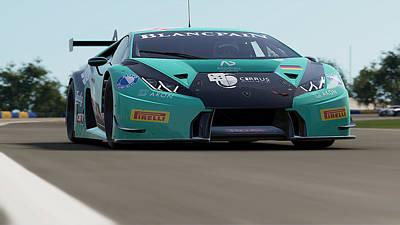 Photograph - Lamborghini Huracan Gt3 - Le Mans 21 by Andrea Mazzocchetti