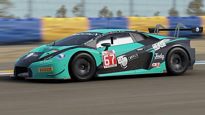 Photograph - Lamborghini Huracan Gt3 - Le Mans 23 by Andrea Mazzocchetti