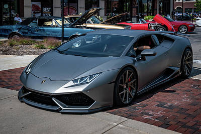 Photograph - Lamborghini Huracan In Grey by Randy Scherkenbach