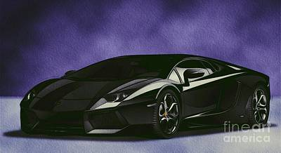 Sports Paintings - Lamborghini by Esoterica Art Agency