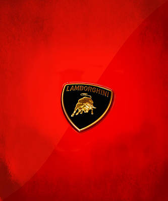 Badges Photograph - Lamborghini by Mark Rogan