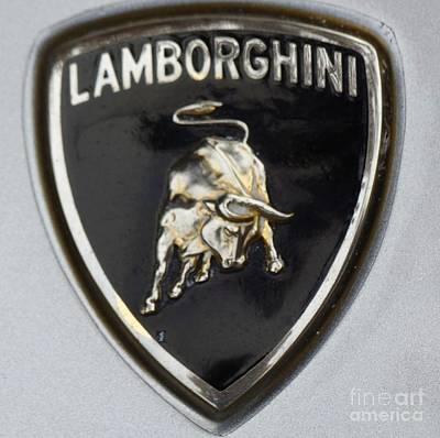 Tool Paintings - Lamborghini Raging Bull by Gina Sullivan
