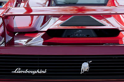 Photograph - Lamborghini Rear View by Jill Reger