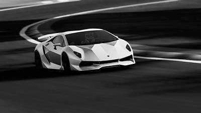 Photograph - Lamborghini Sesto Elemento - 31 by Andrea Mazzocchetti
