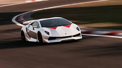 Photograph - Lamborghini Sesto Elemento - 32 by Andrea Mazzocchetti