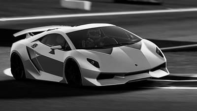 Photograph - Lamborghini Sesto Elemento - 35 by Andrea Mazzocchetti