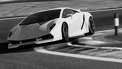 Photograph - Lamborghini Sesto Elemento - 36 by Andrea Mazzocchetti