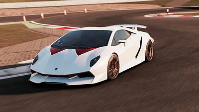 Photograph - Lamborghini Sesto Elemento - 40 by Andrea Mazzocchetti