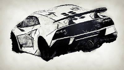 Painting - Lamborghini Sesto Elemento - 46 by Andrea Mazzocchetti