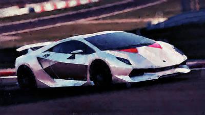 Painting - Lamborghini Sesto Elemento - 48 by Andrea Mazzocchetti