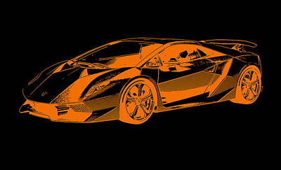 Painting - Lamborghini Sesto Elemento by Andrea Mazzocchetti