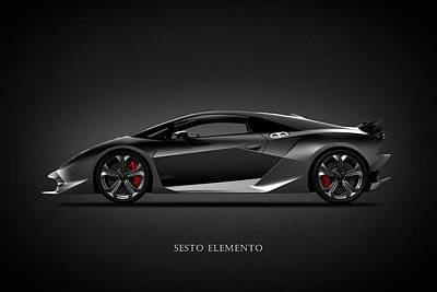 Photograph - Lamborghini Sesto Elemento by Mark Rogan