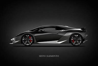 Cars Photograph - Lamborghini Sesto Elemento by Mark Rogan