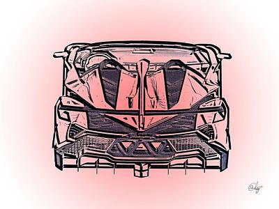 Switzerland Mixed Media - Lamborghini Veneno Tizza by Edier C