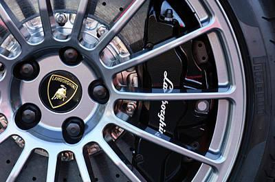 Photograph - Lamborghini Wheel by Jill Reger