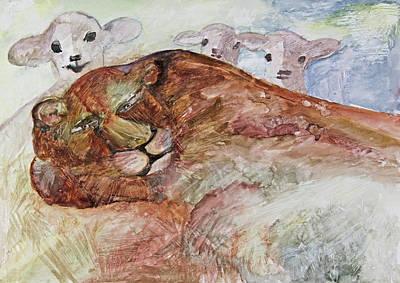 Lambs Lie Down With Lion Original