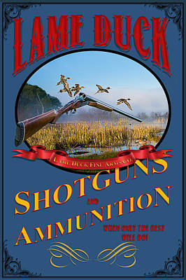 Photograph - Lame Duck Fine Arms Co. In Blue by TL Mair