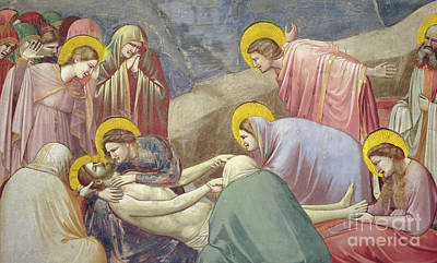 St Mary Magdalene Painting - Lamentation Over The Dead Christ by Giotto di Bondone