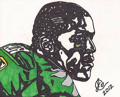 Art Print featuring the drawing Lamicheal James 2 by Jeremiah Colley
