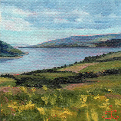 Painting - Lamlash - Facing Holy Isle by Trina Teele