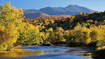 Photograph - Lamoille River Autumn View by Alan L Graham