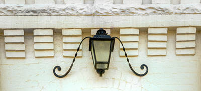 Photograph - Lamp And Curlycue Design by Douglas Barnett