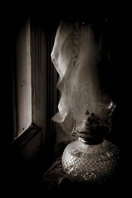 Lamp By The Window Art Print by Karen Hanley Colbert