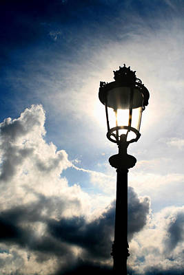 Photograph - Lamp Post At The Louvre by Greg Sharpe