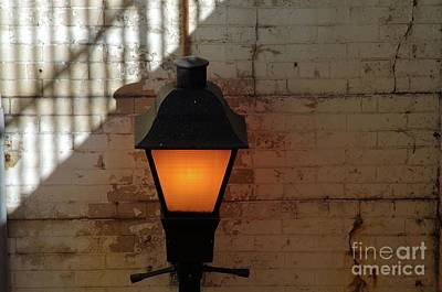Photograph - Lamp Post At Union Station Alexandria V A by John S
