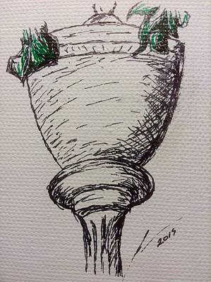 Lamp Post Drawing - Lamp Post by Nicole Porter
