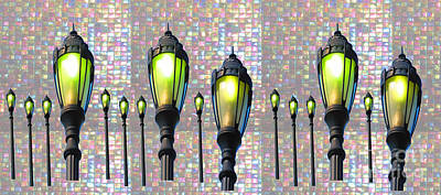 Painting - Lamp Posts By Navin Seeing Things Differently  by Navin Joshi
