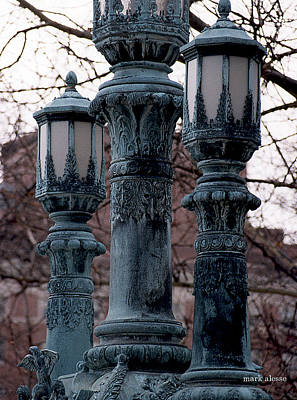 Photograph - Lamp Posts by Mark Alesse
