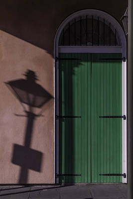 French Quarter Photograph - Lamp Shadow by Garry Gay