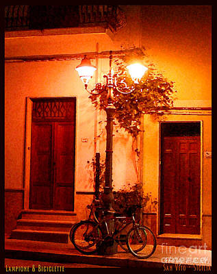 San Vito Lo Capo Photograph - Lampione And Biciclette by Shelley A Aliotti