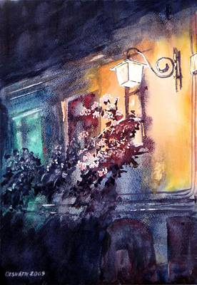 Lamplight Art Print by Gyorgy Ozsvath