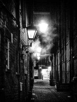 Gas Lamp Photograph - Lamplight In Leeds by Philip Openshaw