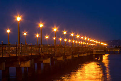 Photograph - Lamplights At Pier 7 by Bonnie Follett