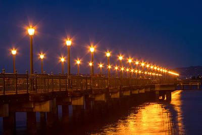 Photograph - Lamplights At Pier 7 by Bonnie Follett