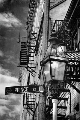 Photograph - Lamppost On Prince Street - North End - Boston by Joann Vitali