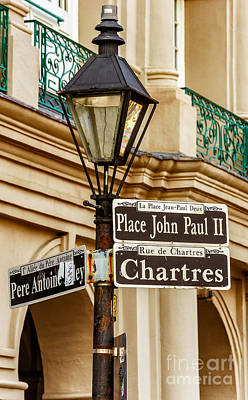 Photograph - Lamppost And Rue - Nola by Kathleen K Parker