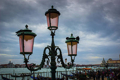 Photograph - Lamppost In St. Marks Square - Venice, Italy by Alexis Lee Scott
