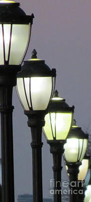 Gas Lamp Photograph - Lamps 1 by Ken Lerner