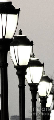 Gas Lamp Photograph - Lamps 1b by Ken Lerner