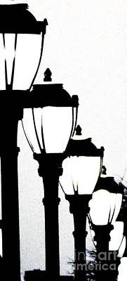 Gas Lamp Photograph - Lamps 1c by Ken Lerner