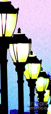 Gas Lamp Photograph - Lamps 1d by Ken Lerner
