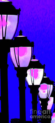 Gas Lamp Photograph - Lamps 1e by Ken Lerner