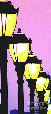 Gas Lamp Photograph - Lamps 1f by Ken Lerner